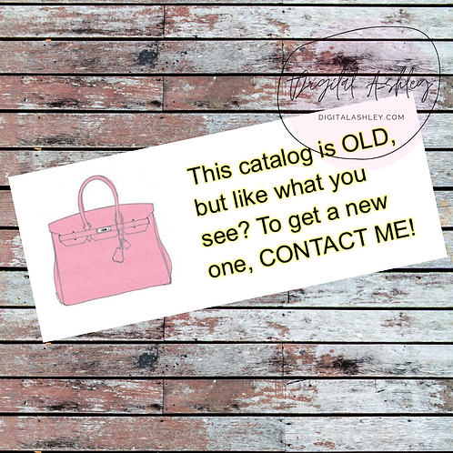 Purse Old Brochure Labels for your Direct Sales Business