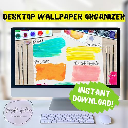 Crafty Paint Desktop Organizer Wallpaper