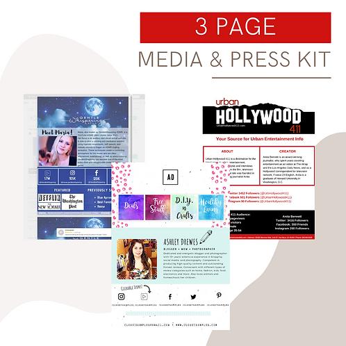 3-Page Customized Media & Press Kit