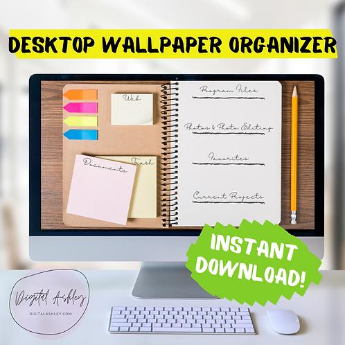 Handwriting Notebook Desk Organizing Desktop Wallpaper