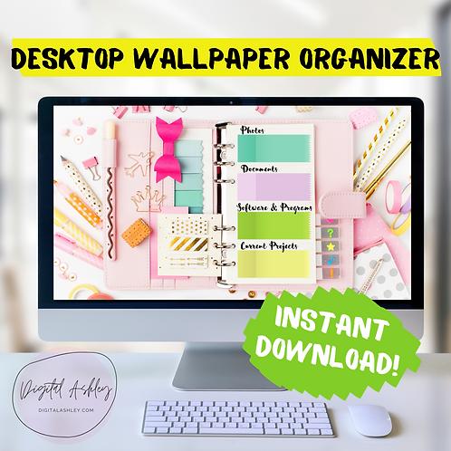 Single Page Planner Desk Organizer Desktop Wallpaper