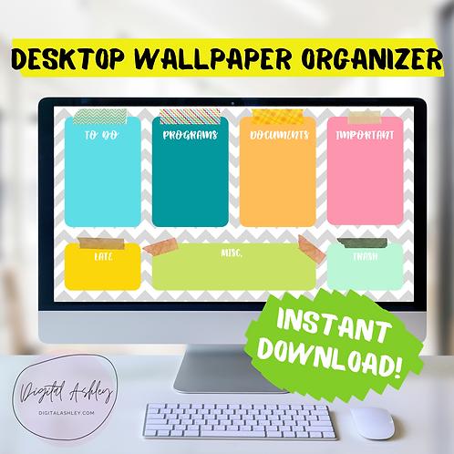 Colors of Chevron Tape Organizing Desktop Wallpaper