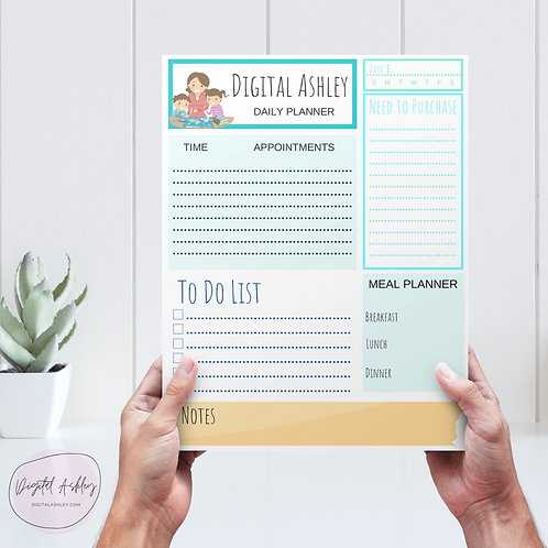 Personalized Mom Notepad Planner Page