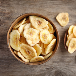 packaging free & organic banana chips