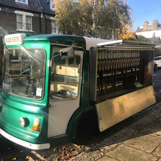 with our beautiful original milk float