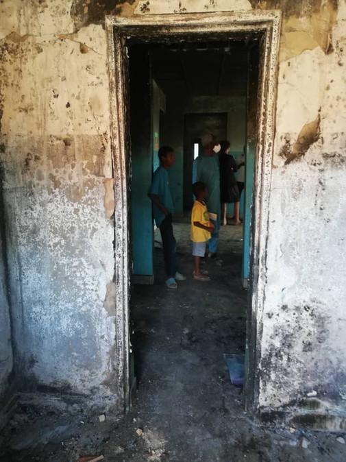 Nach Brand im Waisenhaus beginnt die Instandsetzung