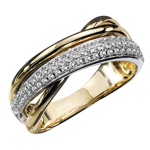 """""""TWO TONE ICE RING"""""""