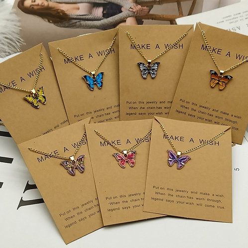 """""""Butterfly Pendant Necklace - Make a Wish"""""""