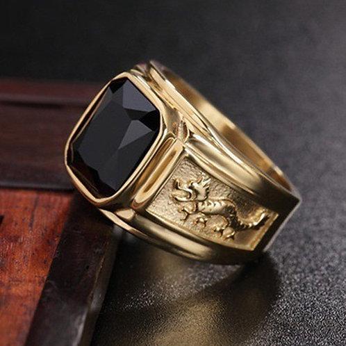 """BLACK GOLD DRAGON RING"""