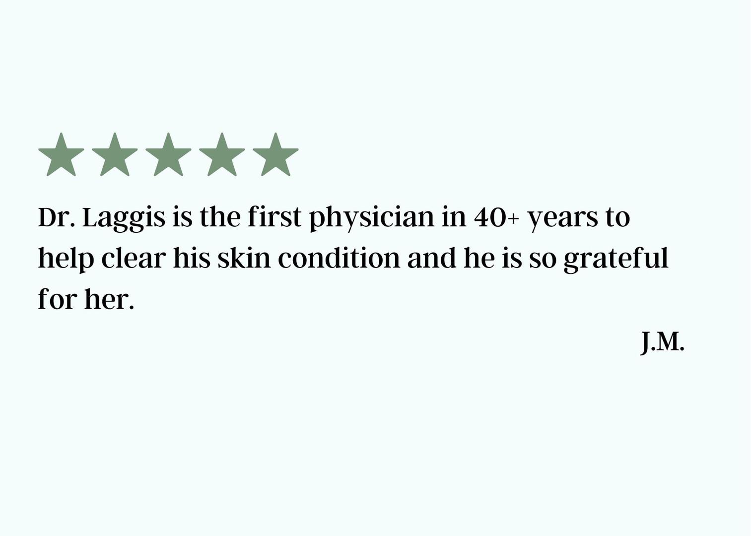 Dr. Laggis Testimonal February 2021