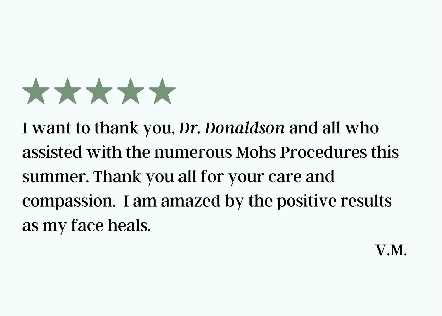 Dr. Donaldson Testimonal Feb 2021