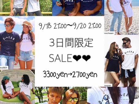 welinablue OCEAN Tシャツ 新色&セール!!