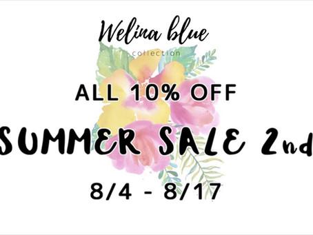 welinablue 10%off SUMMERSALL 実施中!!