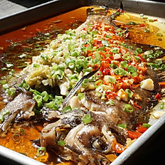 E25 双椒全鱼 Steamed Spicy Whole Fish