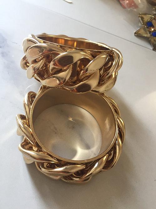 Chunky chain bangles