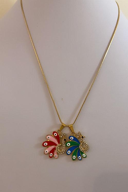 Mini peacock necklace