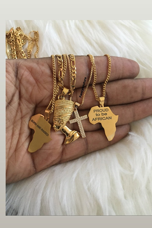 Africa dainty necklaces
