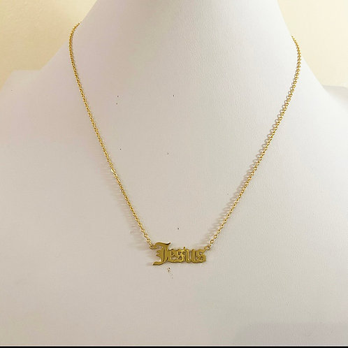 Dainty JESUS necklace