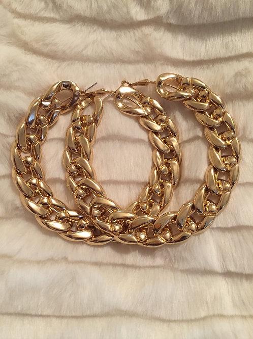 Copy of Chain Hoop earrings