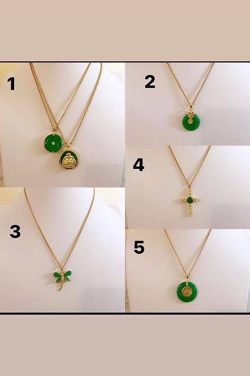 Dainty jade necklaces