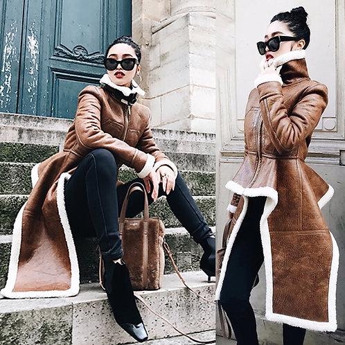 Kim leather coat