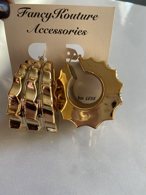 Chunky bamboo earrings