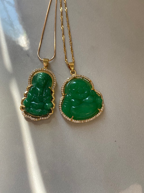 Jade dainty necklaces