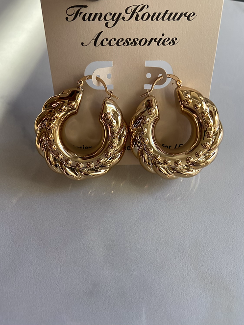Chunky bamboo earrings style2
