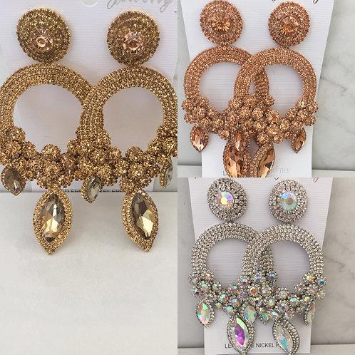 Oversized chandelier earrings
