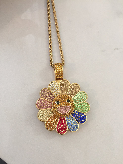 Smiling flower necklace