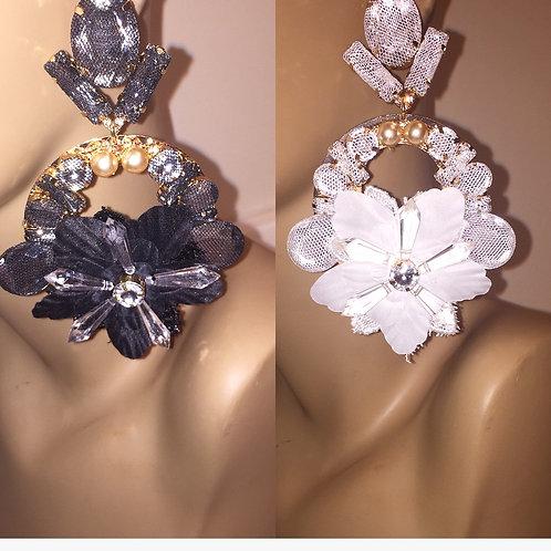 Oversized Flower earrings