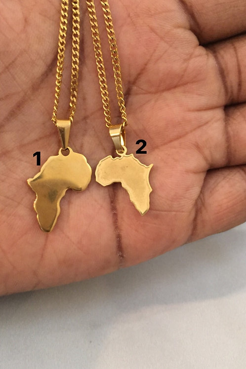 Small dainty Africa necklaces