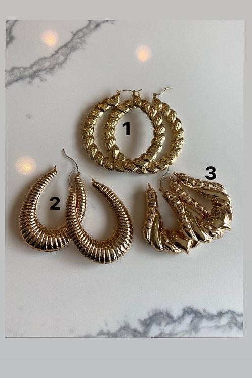 Bamboo style3 earrings