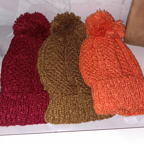 fuzzy ball hats