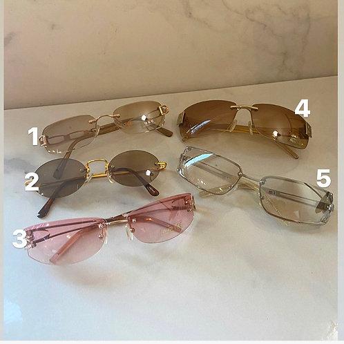 Rimless vintage sunglasses