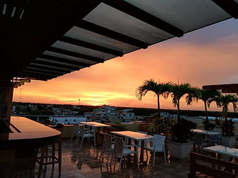 Biwa rooftop sunset.jpg