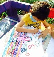 child drawing at Hekab be in Akumal