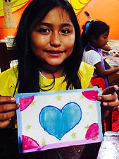 girl with heart picture