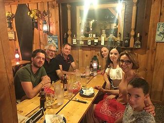 Diner avec nos clients en juillet 2018