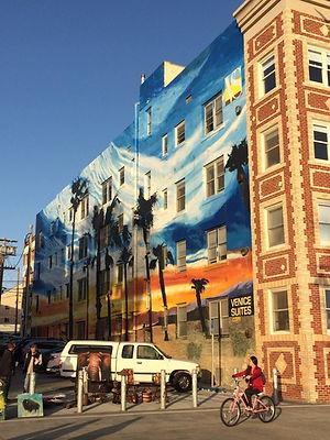 Fresque sur Venice beach californie