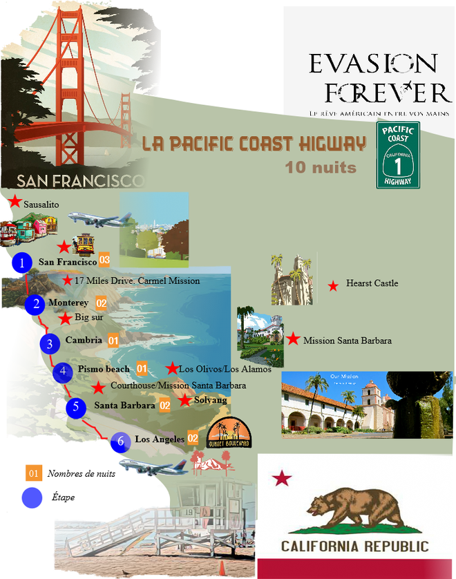 New Carte circuit la pacific coast higwa
