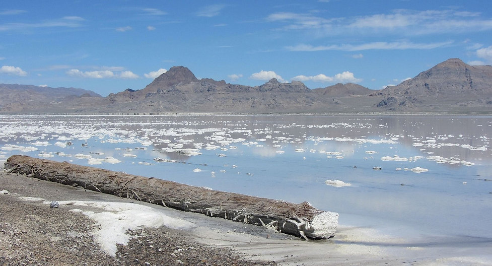 Grand lac salé en Utah