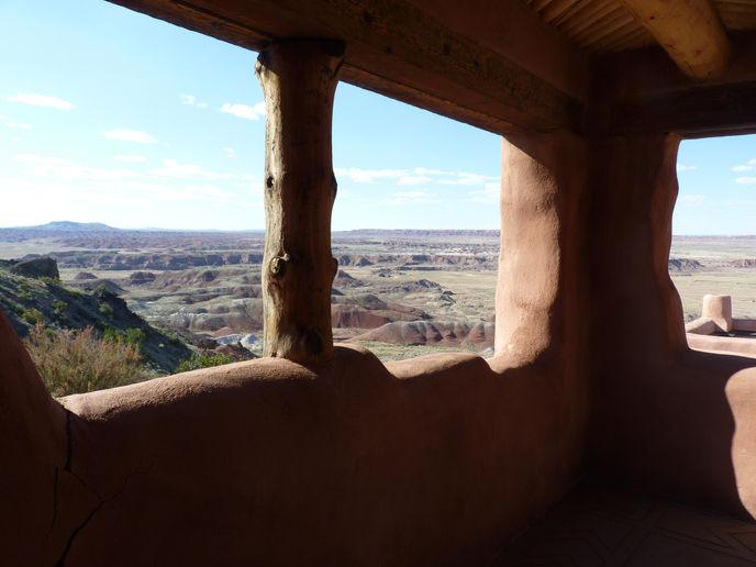 Vue des paysages d'Arizona