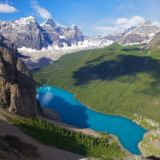 Lake Moraine Alberta Canada