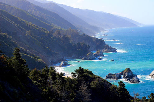 les falaises de Big sur en Californie