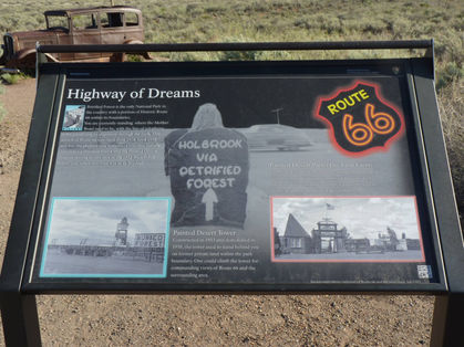 Highway of Dreams route 66 entre Holbrook et Petrified Forest