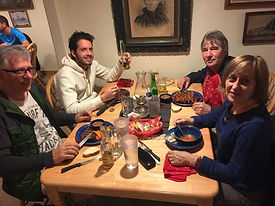Diner avec nos client en octobre 2017 dans la bourgade de Bluff en Arizona