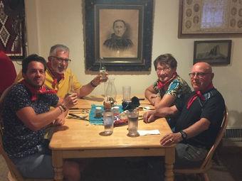 Diner avec nos clients en juin 2018