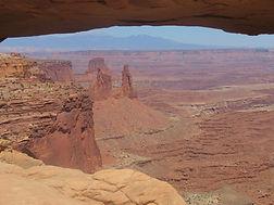 Vue depuisl'arche de canyonlands
