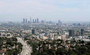 Vue de Los Angeles depuis les hauteurs des Santa Monica Mountains